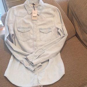 Topshop Moto denim shirt